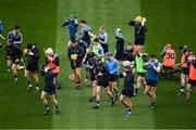 25 March 2018; The Dublin players prepare for the 'warm up' before the Allianz Hurling League Division 1 Quarter-Final match between Dublin and Tipperary at Croke Park in Dublin. Photo by Ray McManus/Sportsfile