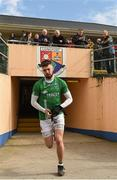 25 March 2018; James McMahon of Fermanagh makes his way out to the pitch ahead of the Allianz Football League Division 3 Round 7 match between Longford and Fermanagh at Glennon Brothers Pearse Park in Longford. Photo by Eóin Noonan/Sportsfile