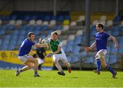 25 March 2018; Aidan Breen of Fermanagh in action against David Mc Givney of Longford during the Allianz Football League Division 3 Round 7 match between Longford and Fermanagh at Glennon Brothers Pearse Park in Longford. Photo by Eóin Noonan/Sportsfile