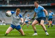 25 March 2018; Kieran Hughes of Monaghan in action against Philip McMahon of Dublin during the Allianz Football League Division 1 Round 7 match between Dublin and Monaghan at Croke Park in Dublin. Photo by Stephen McCarthy/Sportsfile