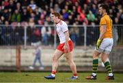 25 March 2018; Peter Harte of Tyrone reacts after having a goal disallowed during the Allianz Football League Division 1 Round 7 match between Tyrone and Kerry at Healy Park in Omagh, Tyrone. Photo by Brendan Moran/Sportsfile