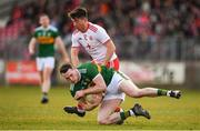 25 March 2018; Mark Griffin of Kerry in action against Ronan O'Neill of Tyrone during the Allianz Football League Division 1 Round 7 match between Tyrone and Kerry at Healy Park in Omagh, Tyrone. Photo by Brendan Moran/Sportsfile