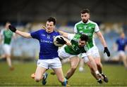 25 March 2018; Rian Brady of Longford in action against Kane O'Connor of Fermanagh during the Allianz Football League Division 3 Round 7 match between Longford and Fermanagh at Glennon Brothers Pearse Park in Longford. Photo by Eóin Noonan/Sportsfile