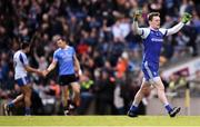 25 March 2018; Rory Beggan of Monaghan celebrates his side's victory following the Allianz Football League Division 1 Round 7 match between Dublin and Monaghan at Croke Park in Dublin. Photo by Stephen McCarthy/Sportsfile
