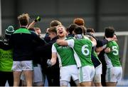 25 March 2018; Aidan Breen of Fermanagh celebrates after the Allianz Football League Division 3 Round 7 match between Longford and Fermanagh at Glennon Brothers Pearse Park in Longford. Photo by Eóin Noonan/Sportsfile