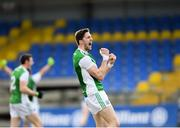 25 March 2018; Eoin Donnelly of Fermanagh celebrates after the Allianz Football League Division 3 Round 7 match between Longford and Fermanagh at Glennon Brothers Pearse Park in Longford. Photo by Eóin Noonan/Sportsfile