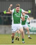 25 March 2018; Seamus Quigley of Fermanagh celebrates after scoring the winning point during the Allianz Football League Division 3 Round 7 match between Longford and Fermanagh at Glennon Brothers Pearse Park in Longford. Photo by Eóin Noonan/Sportsfile
