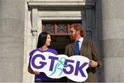 28 March 2018: Getting set for the Grant Thornton 5K Corporate Challenge 2018, Ireland's largest and longest-running corporate run event were Ashling Thompson, Cork Camogie star and race ambassador and Gerard Walsh, Director Grant Thornton Cork. This year's event will support the top 100 emerging young athletes in Ireland through the Athletics Ireland Junior high-performance programme while also raising funds to support the Simon Community. To enter: www.grantthornton.ie/GT5k. Photo by Eóin Noonan/Sportsfile