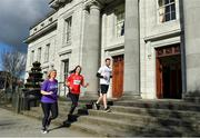 28 March 2018: Getting set for the Grant Thornton 5K Corporate Challenge 2018, Ireland's largest and longest-running corporate run event were Catherine Coakley, Grant Thornton Cork, Ashling Thompson, Cork Camogie Star and race ambassador, David O'Donnell, Grant Thornton Cork. This year's event will support the top 100 emerging young athletes in Ireland through the Athletics Ireland Junior high-performance programme while also raising funds to support the Simon Community. To enter: www.grantthornton.ie/GT5k. Photo by Eóin Noonan/Sportsfile