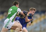 25 March 2018; Dessie Reynolds of Longford in action against Micky Jones of Fermanagh during the Allianz Football League Division 3 Round 7 match between Longford and Fermanagh at Glennon Brothers Pearse Park in Longford. Photo by Eóin Noonan/Sportsfile