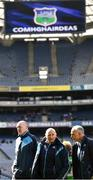 25 March 2018; Dublin manager Pat Gilroy, left, and selectors Mickey Whelan and Anthony Cunningham, right, following the Allianz Hurling League Division 1 Quarter-Final match between Dublin and Tipperary at Croke Park in Dublin. Photo by Stephen McCarthy/Sportsfile