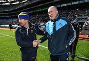 25 March 2018; Dublin manager Pat Gilroy and Tipperary manager Michael Ryan following the Allianz Hurling League Division 1 Quarter-Final match between Dublin and Tipperary at Croke Park in Dublin. Photo by Stephen McCarthy/Sportsfile