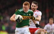 25 March 2018; Johnny Buckley of Kerry is tackled by Ronan McNamee of Tyrone during the Allianz Football League Division 1 Round 7 match between Tyrone and Kerry at Healy Park in Omagh, Tyrone. Photo by Brendan Moran/Sportsfile