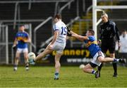 25 March 2018; Conor Madden of Cavan scores the winning point despite the efforts of Liam Boland of Tipperary during the Allianz Football League Division 2 Round 7 match between Cavan and Tipperary at Kingspan Breffni in Cavan. Photo by Piaras Ó Mídheach/Sportsfile