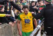 25 March 2018; A dejected Michael Murphy of Donegal comes off the field after the Allianz Football League Division 1 Round 7 match between Donegal and Mayo at MacCumhaill Park in Ballybofey, Donegal. Photo by Oliver McVeigh/Sportsfile