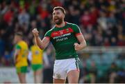 25 March 2018; Aidan O'Shea of Mayo celebrates after the final whistle the Allianz Football League Division 1 Round 7 match between Donegal and Mayo at MacCumhaill Park in Ballybofey, Donegal. Photo by Oliver McVeigh/Sportsfile