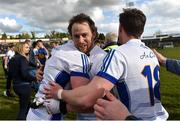 25 March 2018; Seánie Johnston, centre, celebrates with team-mates Ciarán Brady, left, and Niall Clerkin after the Allianz Football League Division 2 Round 7 match between Cavan and Tipperary at Kingspan Breffni in Cavan. Photo by Piaras Ó Mídheach/Sportsfile