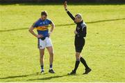 25 March 2018; Liam Casey of Tipperary is shown the red card by referee Fergal Kelly during the Allianz Football League Division 2 Round 7 match between Cavan and Tipperary at Kingspan Breffni in Cavan. Photo by Piaras Ó Mídheach/Sportsfile