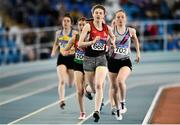 25 March 2018; Aela Stewart of City of Derry AC Spartans, Co Derry, on her way to winning the Girls U17 800m event during Day 3 of the Irish Life Health National Juvenile Indoor Championships at Athlone IT, in Athlone, Westmeath. Photo by Sam Barnes/Sportsfile