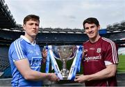 26 March 2018; The 2018 Allianz Football League Division 1 Final takes place at Croke Park this Sunday April 1st. In attendance at a photocall ahead of the Allianz Football League Division 1 Final is John Small of Dublin, left, and Shane Walsh of Galway, at Croke Park, Dublin. Photo by Seb Daly/Sportsfile