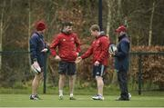 26 March 2018; Head coach Johann van Graan, backline and attack coach Felix Jones, forwards coach Jerry Flannery and defence coach JP Ferreira during Munster Rugby squad training at the University of Limerick in Limerick. Photo by Diarmuid Greene/Sportsfile