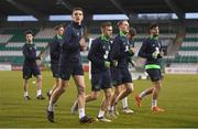 26 March 2018; Declan Rice and team-mates during Republic of Ireland U21 squad training at Tallaght Stadium in Dublin. Photo by Eóin Noonan/Sportsfile