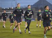 26 March 2018; Danny Kane and Jimmy Dunne, left, during Republic of Ireland U21 squad training at Tallaght Stadium in Dublin. Photo by Eóin Noonan/Sportsfile