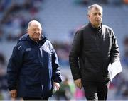 25 March 2018; Seán Shanley, Dublin County Board Chairman, left, and John Costello, Dublin County Board Chief Executive, during the Allianz Hurling League Division 1 Quarter-Final match between Dublin and Tipperary at Croke Park in Dublin. Photo by Stephen McCarthy/Sportsfile