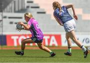 17 March 2018; Ciara McAnespie of Monaghan & 2016 All-Stars in action against Sarah Tierney of Mayo & 2017 All-Stars during the 2016 All-Stars v 2017 All-Stars Exhibition match during the TG4 Ladies Football All-Star Tour 2018. Chulalongkorn University Football Club Stadium, Bangkok, Thailand. Photo by Piaras Ó Mídheach/Sportsfile