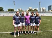17 March 2018; Mayo players, from left, Aileen Gilroy, Sarah Tierney, Fiona McHale, Martha Carter, and Sarah Rowe at the 2016 All-Stars v 2017 All-Stars Exhibition match during the TG4 Ladies Football All-Star Tour 2018. Chulalongkorn University Football Club Stadium, Bangkok, Thailand. Photo by Piaras Ó Mídheach/Sportsfile