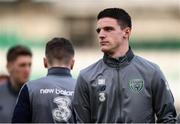 27 March 2018; Declan Rice of Republic of Ireland prior to the UEFA U21 Championship Qualifier match between the Republic of Ireland and Azerbaijan at Tallaght Stadium in Dublin. Photo by Stephen McCarthy/Sportsfile
