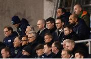 27 March 2018; Republic of Ireland manager Martin O'Neill and assistant manager Roy Keane watch on during the UEFA U21 Championship Qualifier match between the Republic of Ireland and Azerbaijan at Tallaght Stadium in Dublin. Photo by Stephen McCarthy/Sportsfile