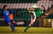 27 March 2018; Josh Cullen of Republic of Ireland in action against Ilkin Muradov of Azerbaijan during the UEFA U21 Championship Qualifier match between the Republic of Ireland and Azerbaijan at Tallaght Stadium in Dublin. Photo by Stephen McCarthy/Sportsfile