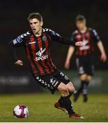26 March 2018; Dylan Watts of Bohemians during the EA SPORTS Cup First Round match between Bohemians and Cabinteely at Dalymount Park in Dublin.  Photo by David Fitzgerald/Sportsfile