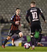 26 March 2018; Dylan Watts, left, and Keith Ward of Bohemians during the EA SPORTS Cup First Round match between Bohemians and Cabinteely at Dalymount Park in Dublin.  Photo by David Fitzgerald/Sportsfile