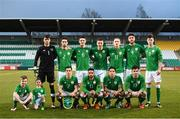 27 March 2018; The Republic of Ireland team, back row, from left, Kieran O'Hara, Corey Whelan, Declan Rice, Shaun Donnellan, Ronan Curtis, Ryan Sweeney and Danny Kane, with, front row, Josh Cullen, Jake Mulraney, Reece Grego-Cox and Ryan Manning during the UEFA U21 Championship Qualifier match between the Republic of Ireland and Azerbaijan at Tallaght Stadium in Dublin. Photo by Stephen McCarthy/Sportsfile