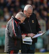 25 March 2018; Mayo Manager Stephen Rochford, left, along with Mayo County Board Secretary Dermot Butler before the Allianz Football League Division 1 Round 7 match between Donegal and Mayo at MacCumhaill Park in Ballybofey, Donegal. Photo by Oliver McVeigh/Sportsfile