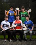 29 March 2018; In attendance, from left, Niall Bermingham of Monaghan, Connor Leonard of Longford, Conor Quigley of Louth, Seán O'Riordan of Leitrim and Conor Masterson of Cavan at the launch of the Bank of Ireland Celtic Challenge 2018 at Iveagh Gardens in Dublin. Photo by David Fitzgerald/Sportsfile
