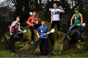29 March 2018; In attendance, from left, Pearse Weir-Norris of Westmeath, Jake Somers of Carlow, Conor Connolly of Wicklow, Eden O'Reilly of Kildare and Ruairí Coulter of Meath at the launch of the Bank of Ireland Celtic Challenge 2018 at Iveagh Gardens in Dublin. Photo by David Fitzgerald/Sportsfile