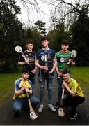 29 March 2018; In attendance, from left, Paddy Gannon of Roscommon, Niall Kilcullen of Sligo, Cian Naughton of Galway Tribesmen, Luke Connor of Mayo and Shane McKittrick of Donegal at the launch of the Bank of Ireland Celtic Challenge 2018 at Iveagh Gardens in Dublin. Photo by David Fitzgerald/Sportsfile