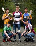 29 March 2018; In attendance, from left, Ronan McKenna of Limerick Treaty, Murrough McMahon of Clare Saffrons, Jack Barrett of Galway McDonagh, Liam Dempsey of North Tipperary and Adam Heneghan of Galway Maroon at the launch of the Bank of Ireland Celtic Challenge 2018 at Iveagh Gardens in Dublin. Photo by David Fitzgerald/Sportsfile