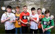 29 March 2018; In attendance, from left, Fergal Donaghy of Tyrone, Ciarán Magill of Antrim, Ciarán Watson of Down, Eoghan Cassidy of Derry, Seán Óg McGuinness of Armagh and Tom Keenan of Fermanagh at the launch of the Bank of Ireland Celtic Challenge 2018 at Iveagh Gardens in Dublin. Photo by David Fitzgerald/Sportsfile