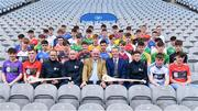 29 March 2018; Uachtarán Chumann Lúthchleas Gael John Horan, centre, with Bank of Ireland Ambassadors, from left, Tommy Walsh, Eoin Kelly and Henry Shefflin, Down hurler Danny Toner and attendees at the launch of the Bank of Ireland Celtic Challenge 2018 at Croke Park in Dublin. Photo by Sam Barnes/Sportsfile
