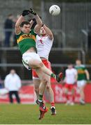 25 March 2018; Jack Barry of Kerry in action against Declan McClure of Tyrone during the Allianz Football League Division 1 Round 7 match between Tyrone and Kerry at Healy Park in Omagh, Tyrone. Photo by Brendan Moran/Sportsfile