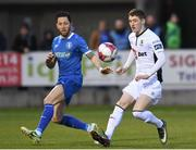 30 March 2018; John Martin of Waterford FC in action against Billy Dennehy of Limerick FC during the SSE Airtricity League Premier Division match between Limerick and Waterford at Market's Field in Limerick. Photo by Matt Browne/Sportsfile