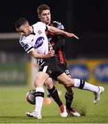 30 March 2018; Michael Duffy of Dundalk in action against Dylan Watts of Bohemians during the SSE Airtricity League Premier Division match between Dundalk and Bohemians at Oriel Park in Louth. Photo by Stephen McCarthy/Sportsfile