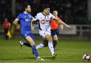 30 March 2018; Courtney Duffus of Waterford FC in action against Billy Dennehy of Limerick FC during the SSE Airtricity League Premier Division match between Limerick and Waterford at Market's Field in Limerick. Photo by Matt Browne/Sportsfile