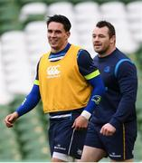 31 March 2018; Joey Carbery during the Leinster Rugby captain's run at the Aviva Stadium in Dublin. Photo by Ramsey Cardy/Sportsfile