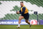 31 March 2018; Andrew Porter during the Leinster Rugby captain's run at the Aviva Stadium in Dublin. Photo by Ramsey Cardy/Sportsfile