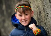 31 March 2018; Carlow supporter Caelan Brady, age 13, prior to the Allianz Football League Division 4 Final match between Carlow and Laois at Croke Park in Dublin. Photo by David Fitzgerald/Sportsfile